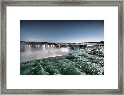 Horseshoe Waterfalls At Niagara Falls Framed Print by Busà Photography