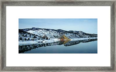 Horsetooth Reflections Framed Print by Julie Magers Soulen