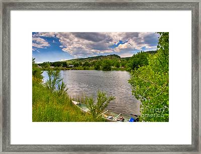 Horsetooth Reservoir Summer Scene Framed Print by Harry Strharsky