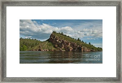 Horsetooth Reservoir View Toward Inlet Bay Framed Print by Harry Strharsky