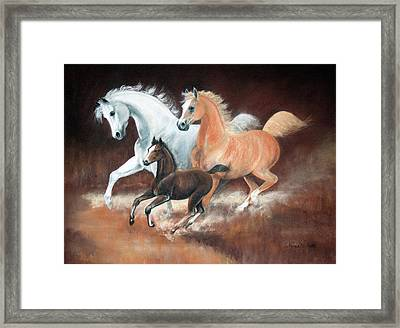 Horsin' Around Framed Print by Rose McIlrath