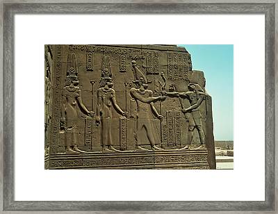 Horus Donant El BastÓ Del Poder Al FaraÓ Framed Print by With my pictures I try to understand the world