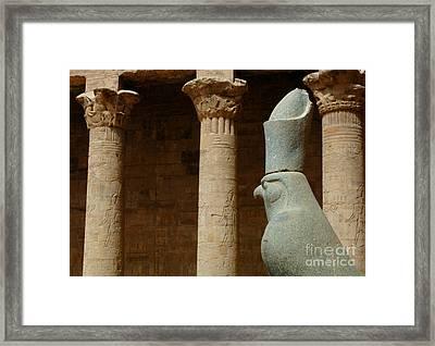 Horus Temple Of Edfu Egypt Framed Print by Bob Christopher