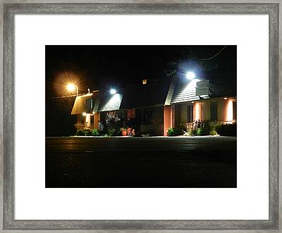 Hospice At Night Framed Print by Dennis Leatherman
