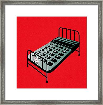 Hospital Bed Costs, Conceptual Image Framed Print by Stephen Wood
