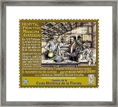 Hospital Primitivo Medicina Avanzada Framed Print by Warren Clark