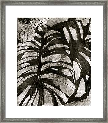 Hostas Version II Framed Print