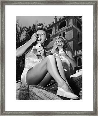 Hot & Cold In Venice Framed Print by Archive Photos