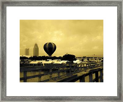 Hot Air Balloon Framed Print by Floyd Smith