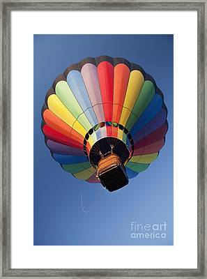 Hot Air Balloon In Flight Framed Print by Bryan Mullennix