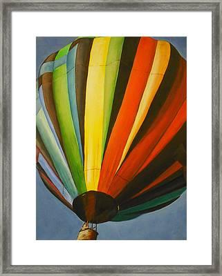 Hot Air Balloon Framed Print by Jessica J Murray