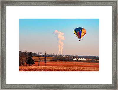 Hot Air Balloon Near Limerick Pa Framed Print by Bill Cannon