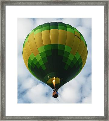 Hot Air Balloon Framed Print by Zoe Ferrie
