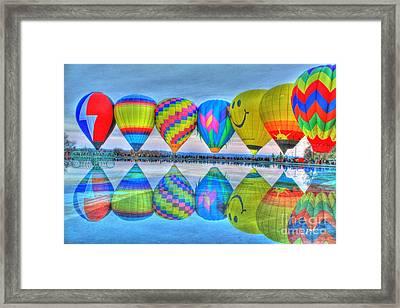 Hot Air Balloons At Eden Park Framed Print