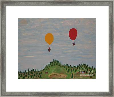 Hot Air Balloons Framed Print by Gregory Davis