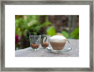 Hot Capuccino Coffee Framed Print by Ngarare