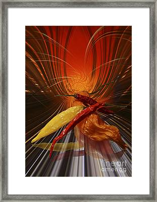 Framed Print featuring the digital art Hot Chilli by Johnny Hildingsson