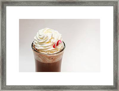 Hot Chocolate And Whipped Cream Framed Print