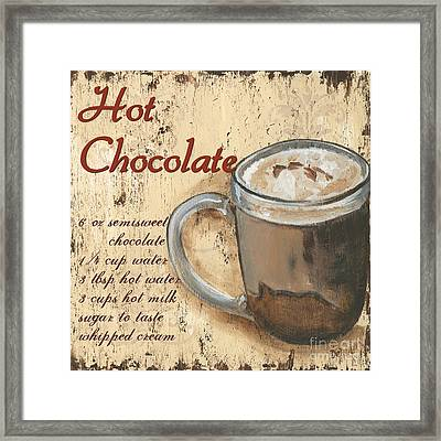 Hot Chocolate Framed Print by Debbie DeWitt