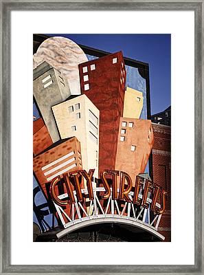 Hot City Streets Framed Print by Joan Carroll