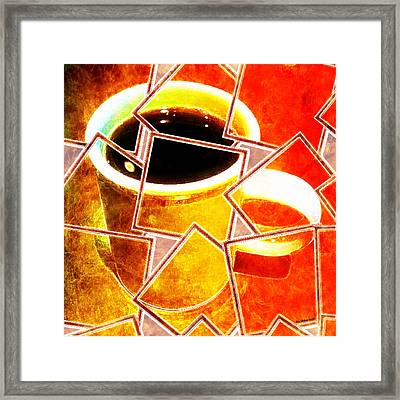 Framed Print featuring the photograph Hot Coffee 01 by Ana Tirolese