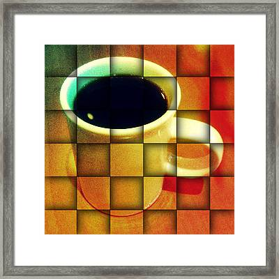 Framed Print featuring the digital art Hot Coffee 02 by Ana Tirolese