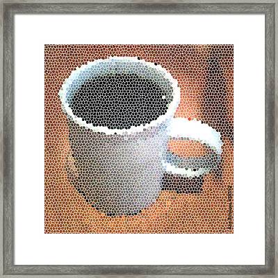 Framed Print featuring the digital art Hot Coffee 03 by Ana Tirolese