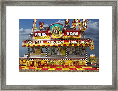 Hot Dog Vendor Stand Framed Print by Randall Nyhof