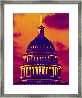 Framed Print featuring the photograph Hot Dome by Jim Moore
