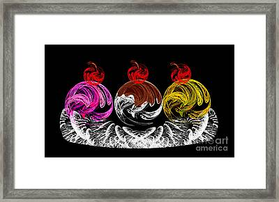 Hot Fudge Ice Cream Boat Framed Print by Andee Design