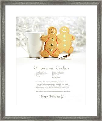 Hot Holiday Drink With Gingerbread Cookies  Framed Print