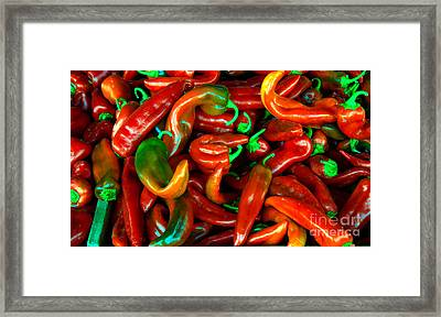 Hot Peppers Framed Print by Robert Bales