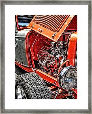 Hot Rod Framed Print by Joe Finney