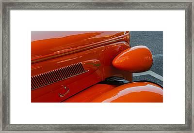 Hot Rod Orange Framed Print by Ken Stanback