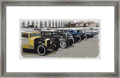 Hot Rod Row Framed Print by Steve McKinzie