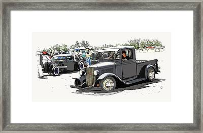Hot Rod Show Trucks Framed Print by Steve McKinzie