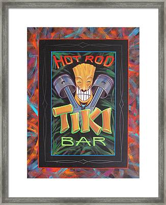 Hot Rod Tiki Bar Framed Print