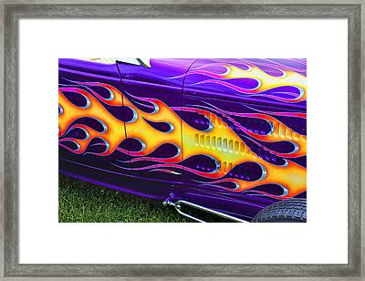 Hot Rod With Custom Flames Framed Print by Garry Gay