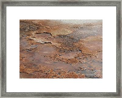 Hot Springs Abstract Framed Print by Sabrina L Ryan