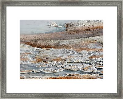 Hot Springs Abstract Two Framed Print by Sabrina L Ryan