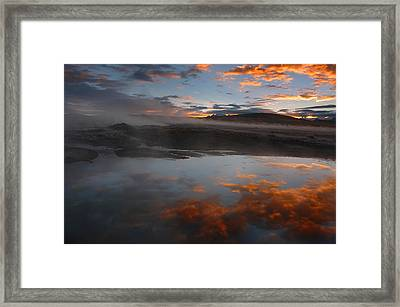 Hot Springs In The Bolivian Altiplano. Framed Print by Eric Bauer