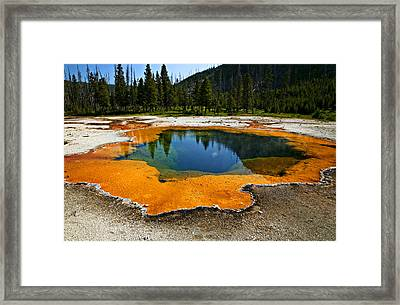 Hot Springs Yellowstone Framed Print by Garry Gay