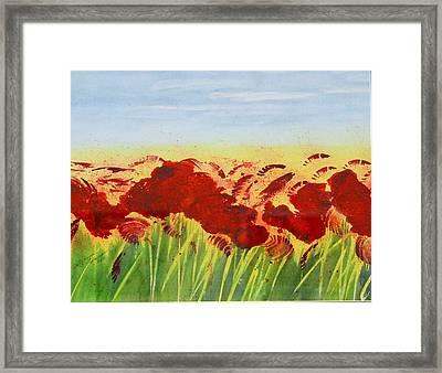 Hot Summer Day Framed Print by Tatyana Seamon
