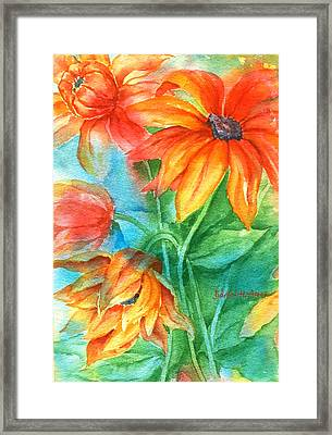 Hot Summer Flowers Framed Print
