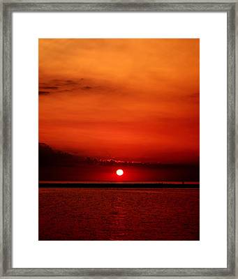 Hot Sunset Framed Print by Leigh Edwards