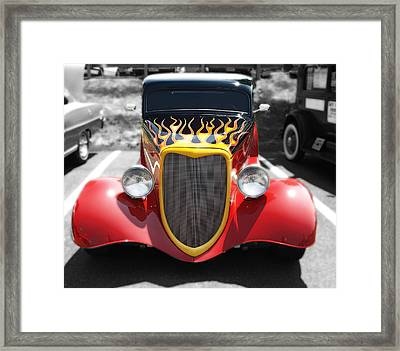 Framed Print featuring the photograph Hot Wheels   by Raymond Earley