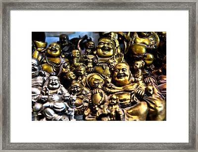 Framed Print featuring the photograph Hotei Gathering by Edward Myers