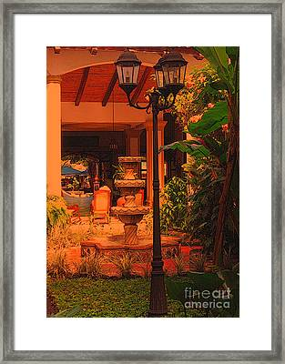 Framed Print featuring the photograph Hotel Alhambra by Lydia Holly