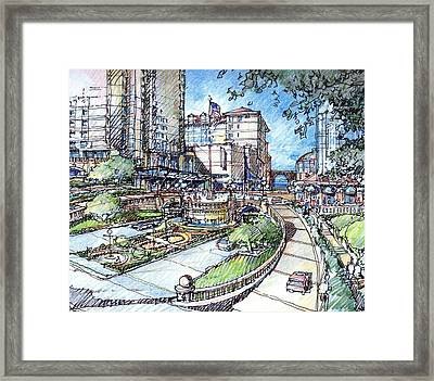 Framed Print featuring the drawing Hotel by Andrew Drozdowicz