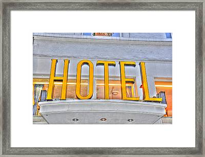 Hotel Framed Print by Barry R Jones Jr